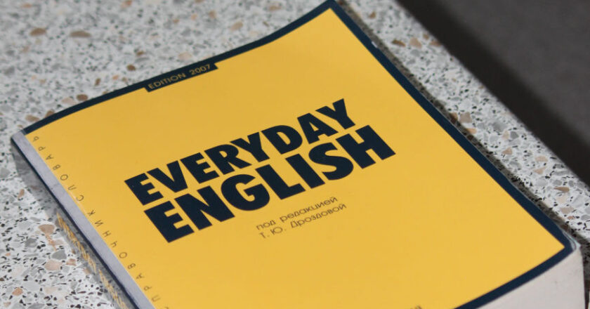 Learning English Text Book on a table