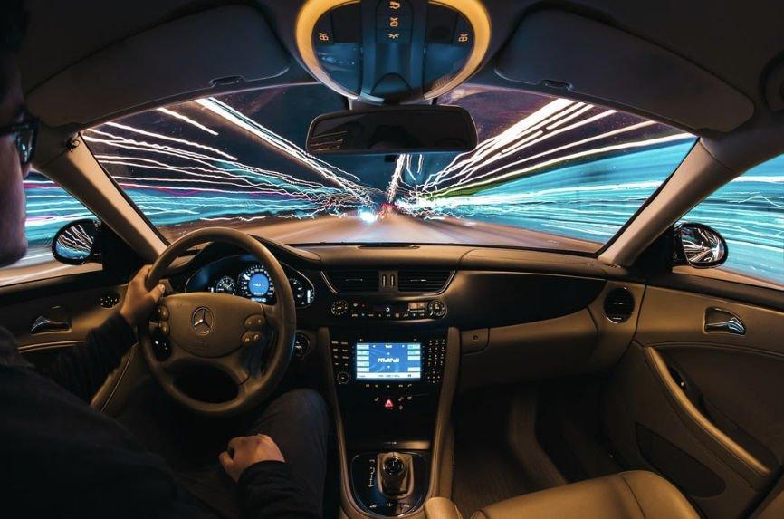 Futuristic image of car interior