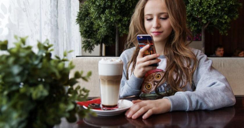 Girl Watching Smartphone