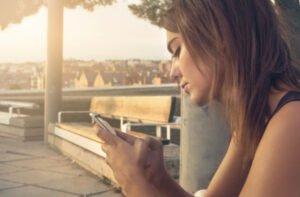 Lady Using Smartphone