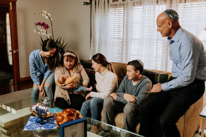 Jewish family gathering