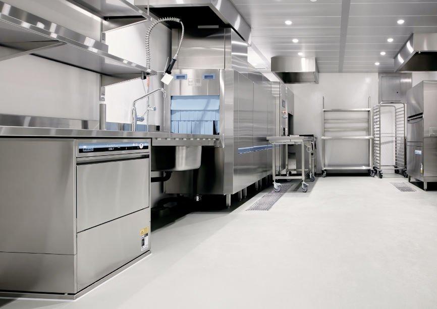 Epoxy Flooring in an industrial kitchen