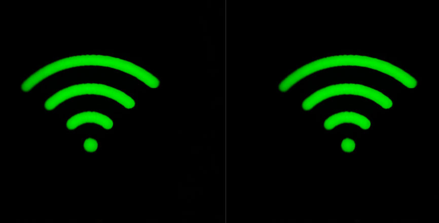 Two Routers signal strength indicators