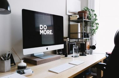 imac on a desk in a home office