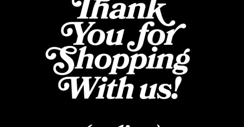 Thank you for shopping with us