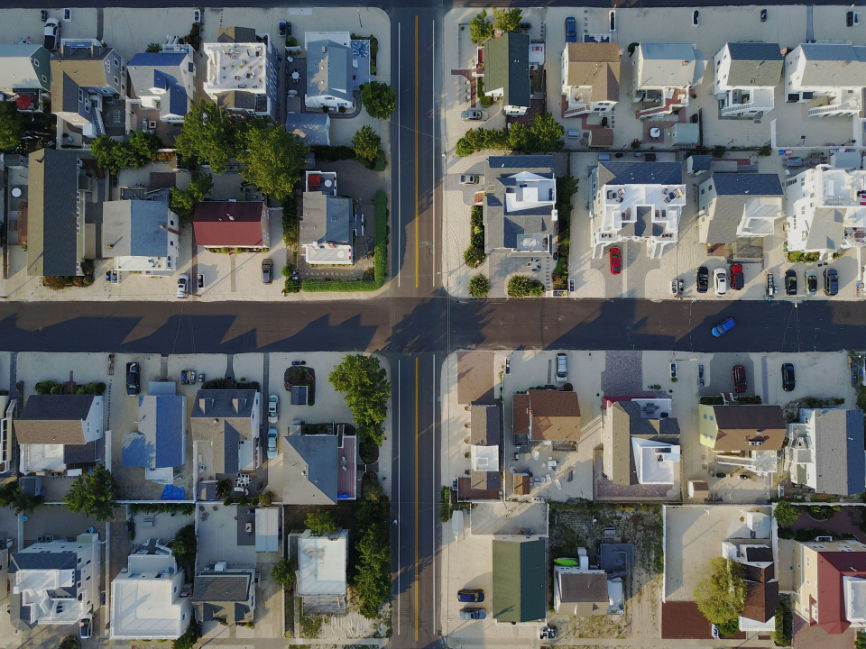 Aerial View of Properties for Property Valuation