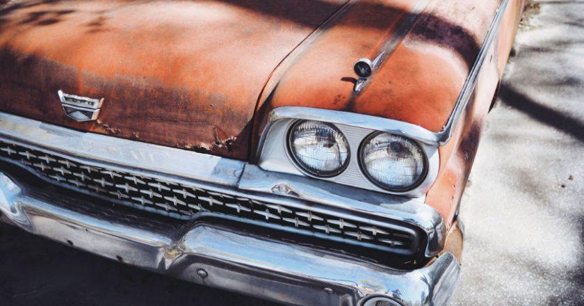 Old Junk Car Cadillac