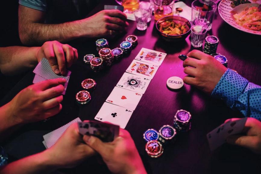 Texas Hold'um at the casino