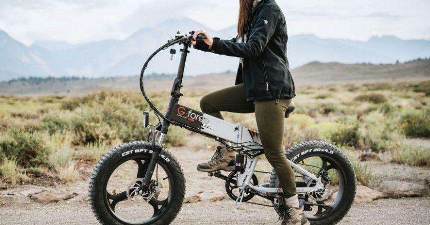 Lady on an E-Bike