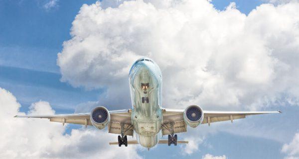 Airborne Jet Plane