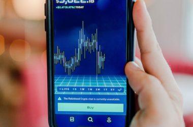 Crypto Exchange Displayed on Smartphone