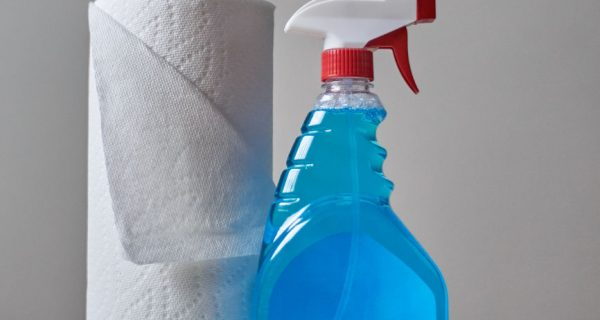 House Cleaning Spray and Towel Paper