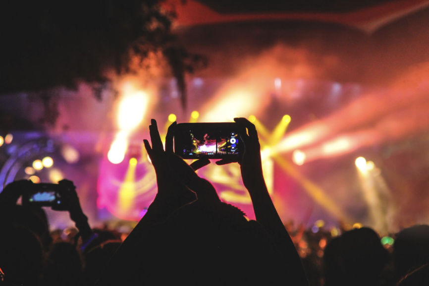 iPhone Recording at Concert